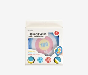 Toss and Catch Sticky Ball Play Set, Blue/White Combo