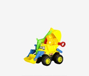 Beach Toys Construction Vehicle, Yellow/Green Combo