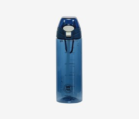 Portable Plastic Bottle With Straw, Blue