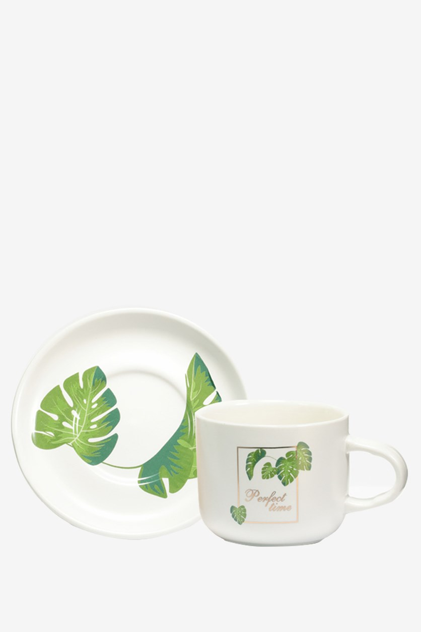 Coffee Cup Tropical Forest 220ml, White