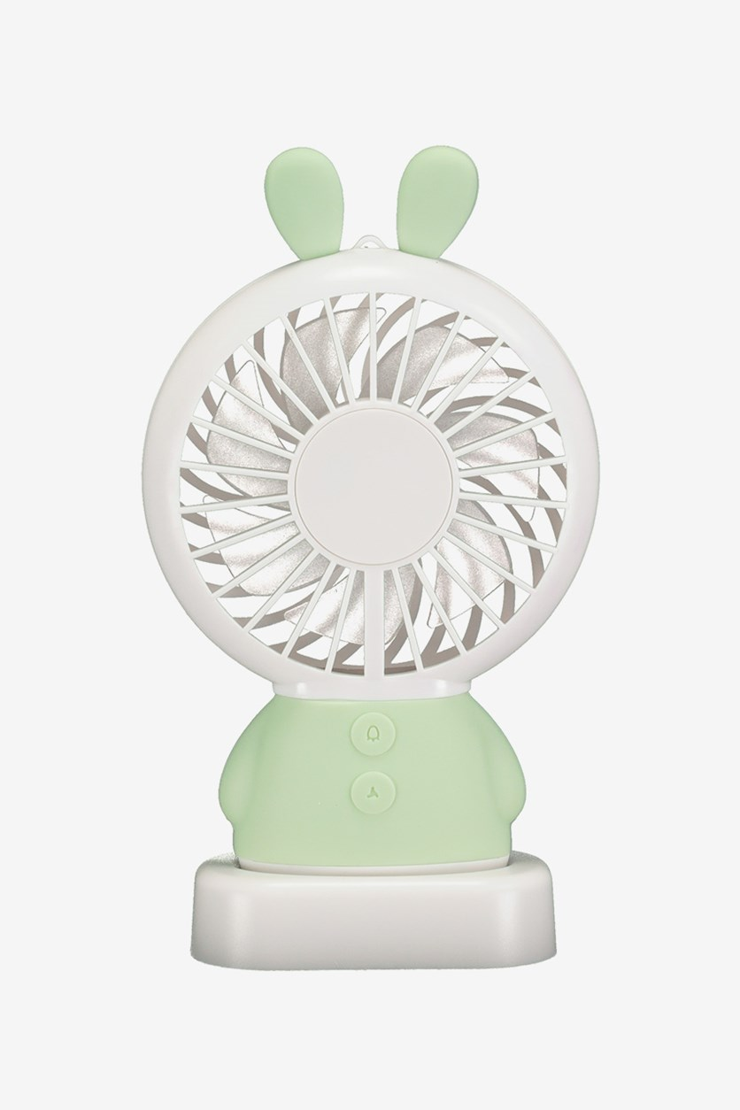 Desktop Fan-LED Light Rabbit, Green