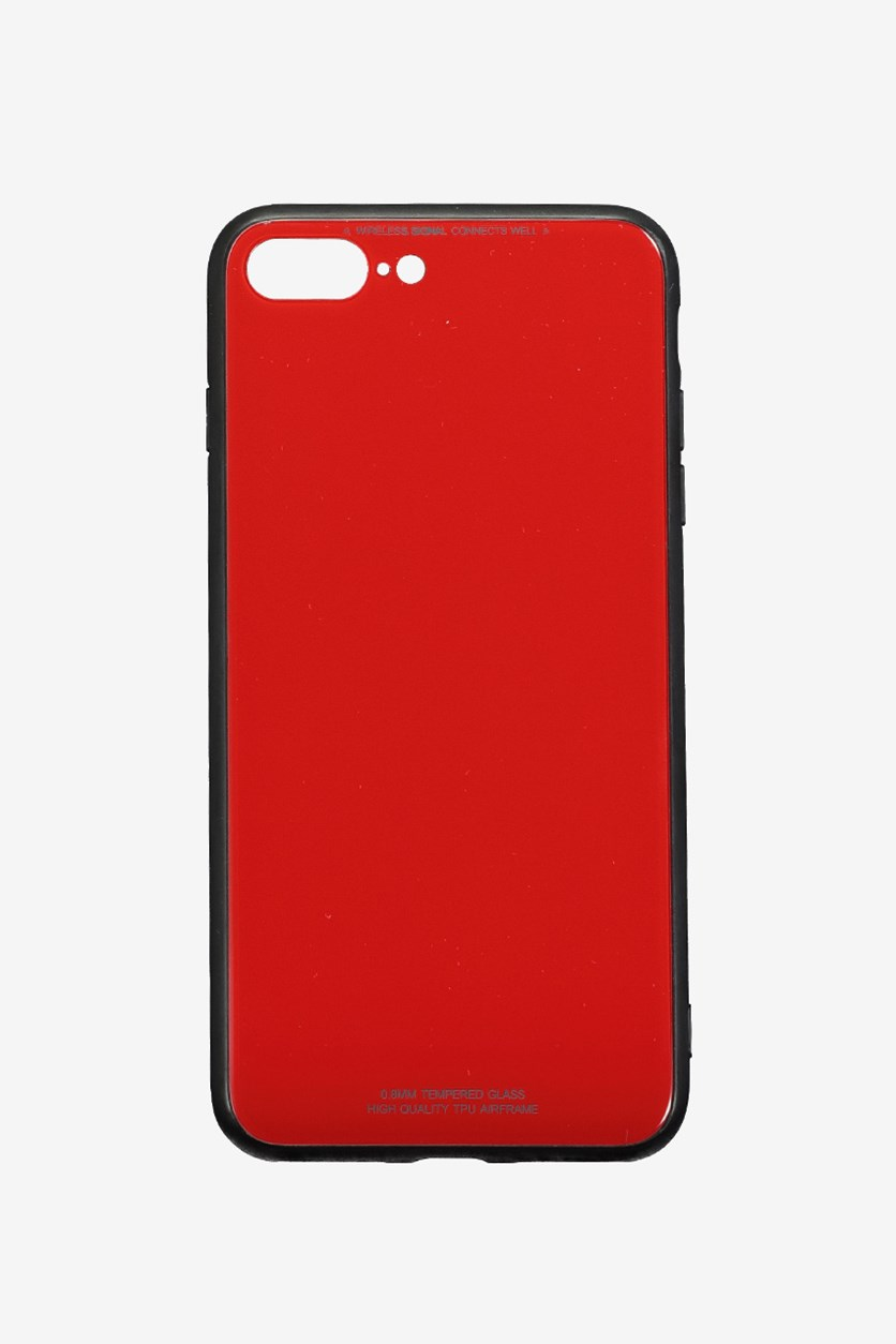 IPhone 7/8 Plus Tempered Glass Phone Cover, Red