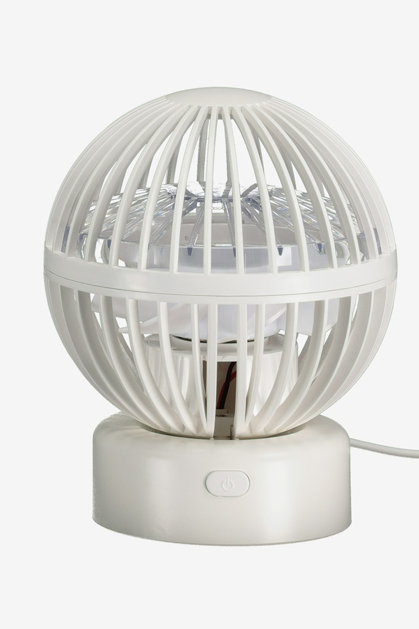 Desktop Fan- Hot Air Balloon, White