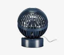 Desktop Fan- Hot Air Balloon, Navy Blue