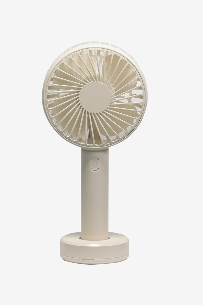 Handheld Desktop Fan, White