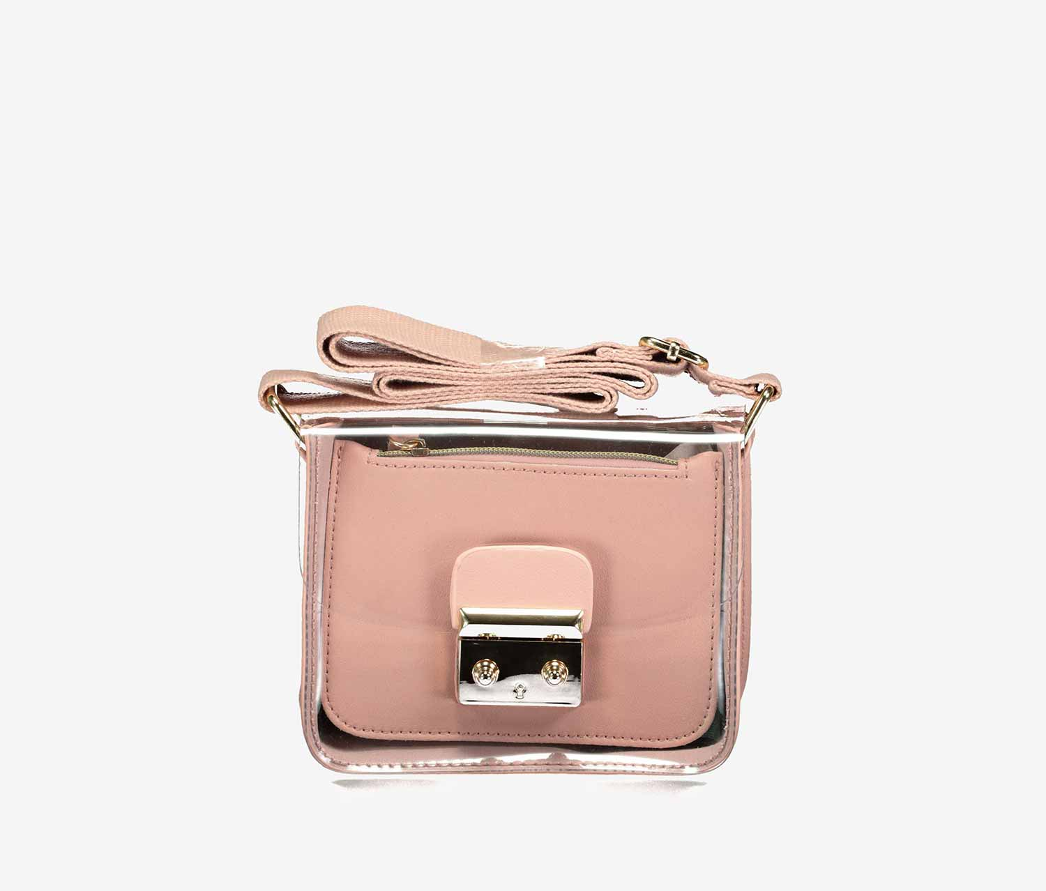 Transparent Cross Body Bag, Pink
