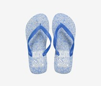 Men's Printed Flipflops, Blue