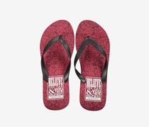 Men's Printed Flipflops, Red