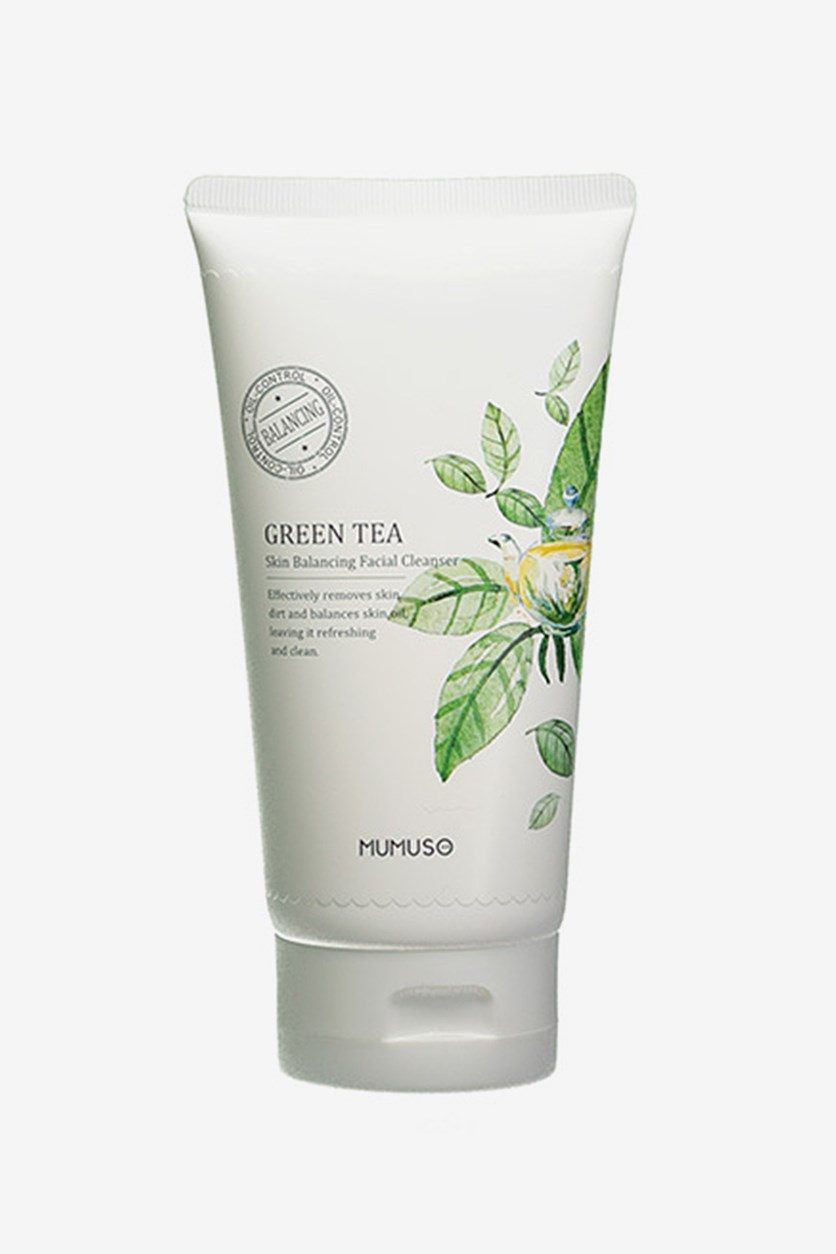 Green Tea Skin Balancing Facial Cleanser 150g, White