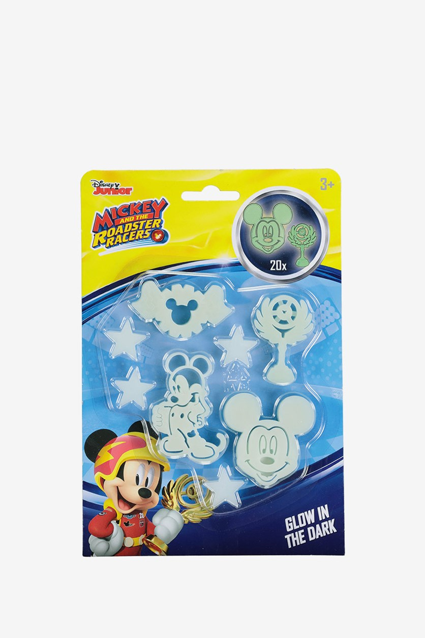 Glow in the Dark Mickey Stickers Set, Light Green