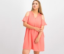 Charter Club Seamed Cold-Shoulder Dress, Porcelain Rose