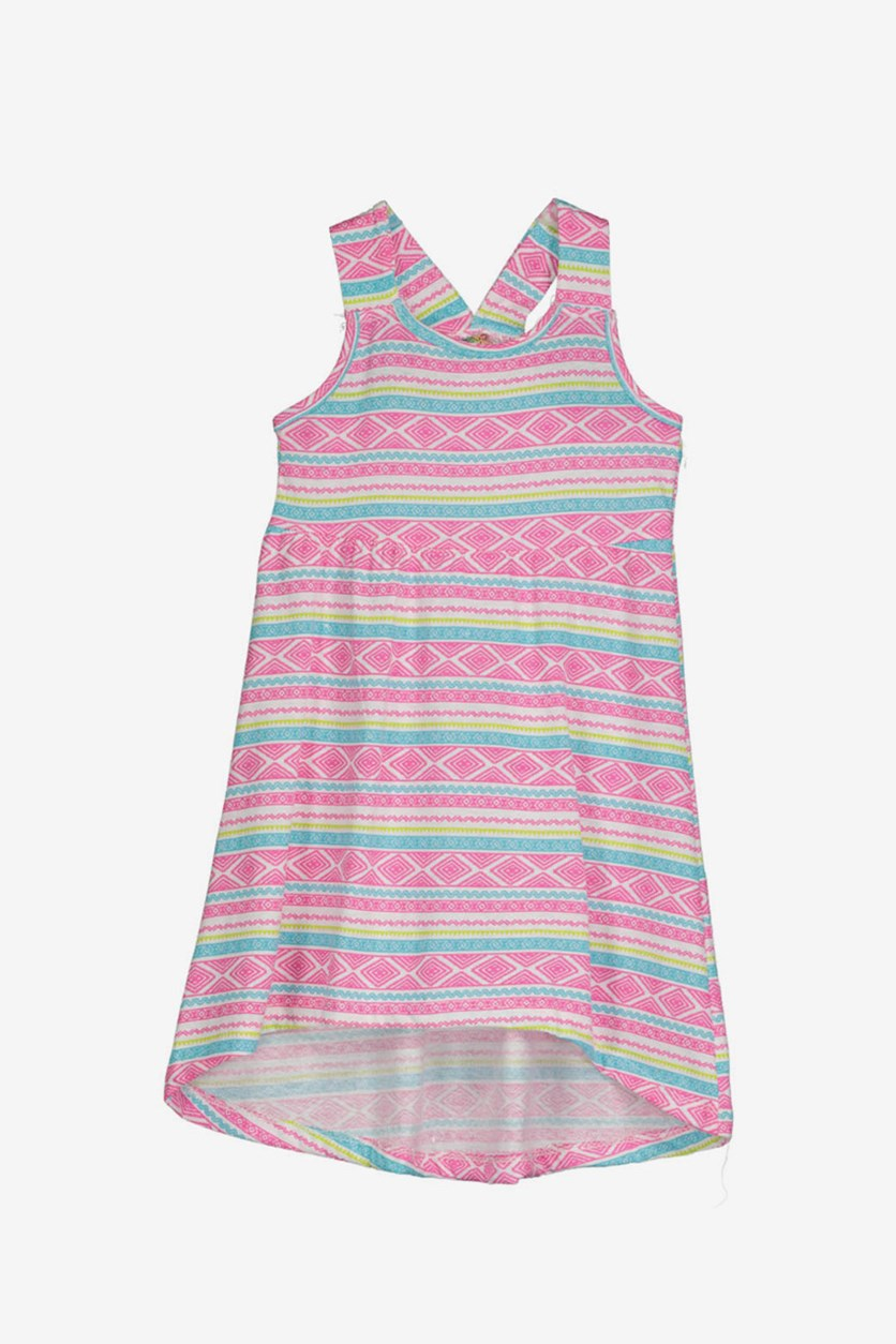 Girls Raceback Dress, Pink