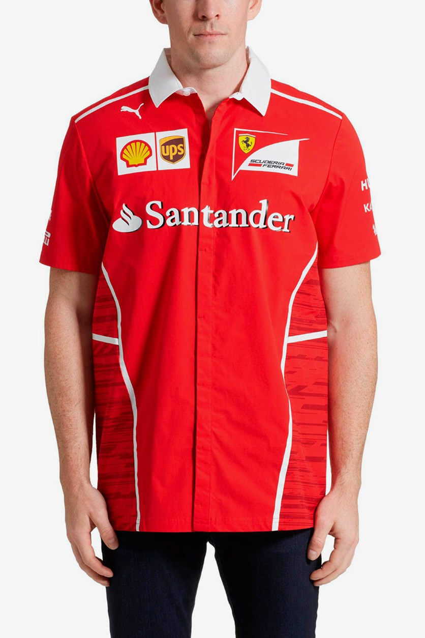 Men's Ferrari Team Shirt, Red Combo