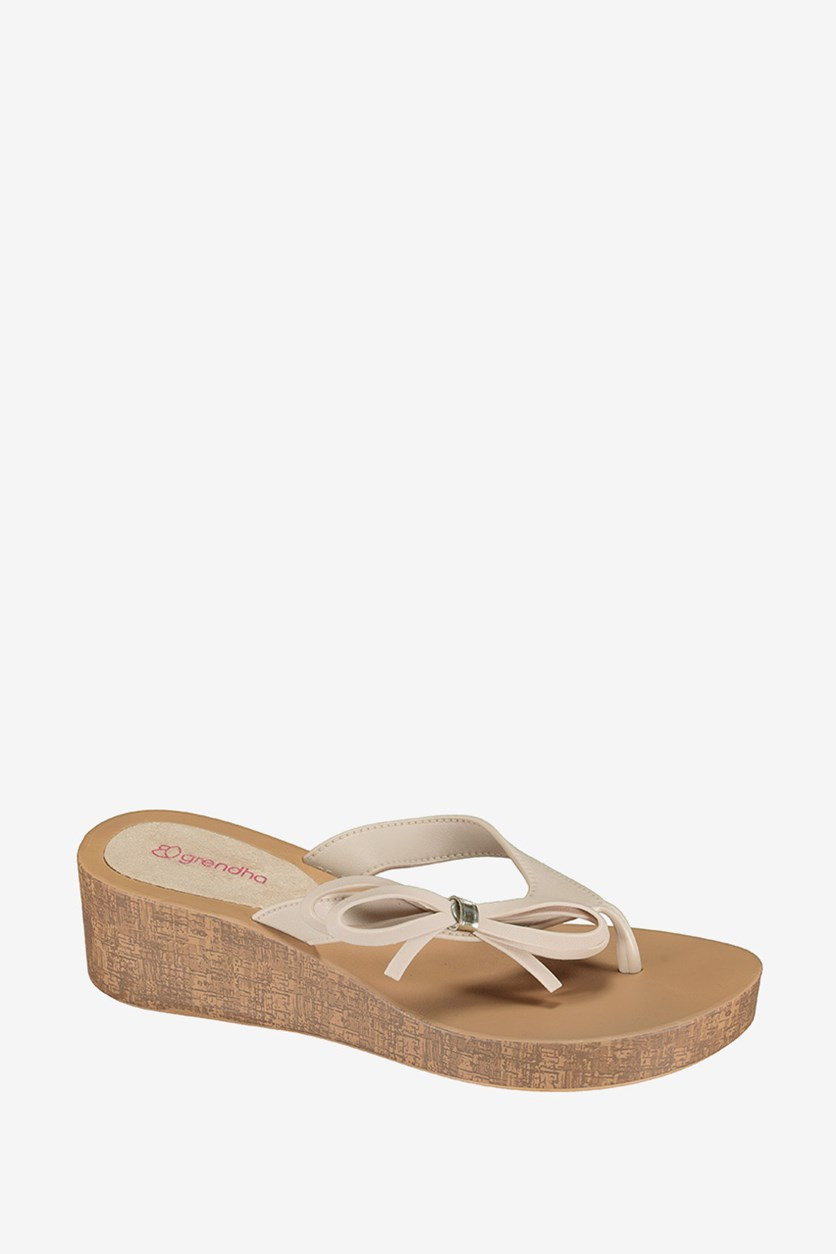 Women's Wedge Sandals, Tan