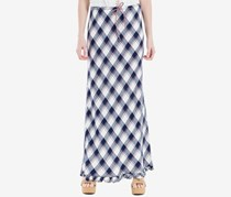 Max Studio London Plaid Maxi Skirt, Navy
