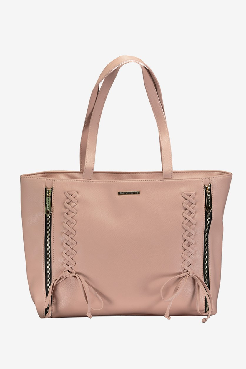 Women's Corset Laced Tote, Blush