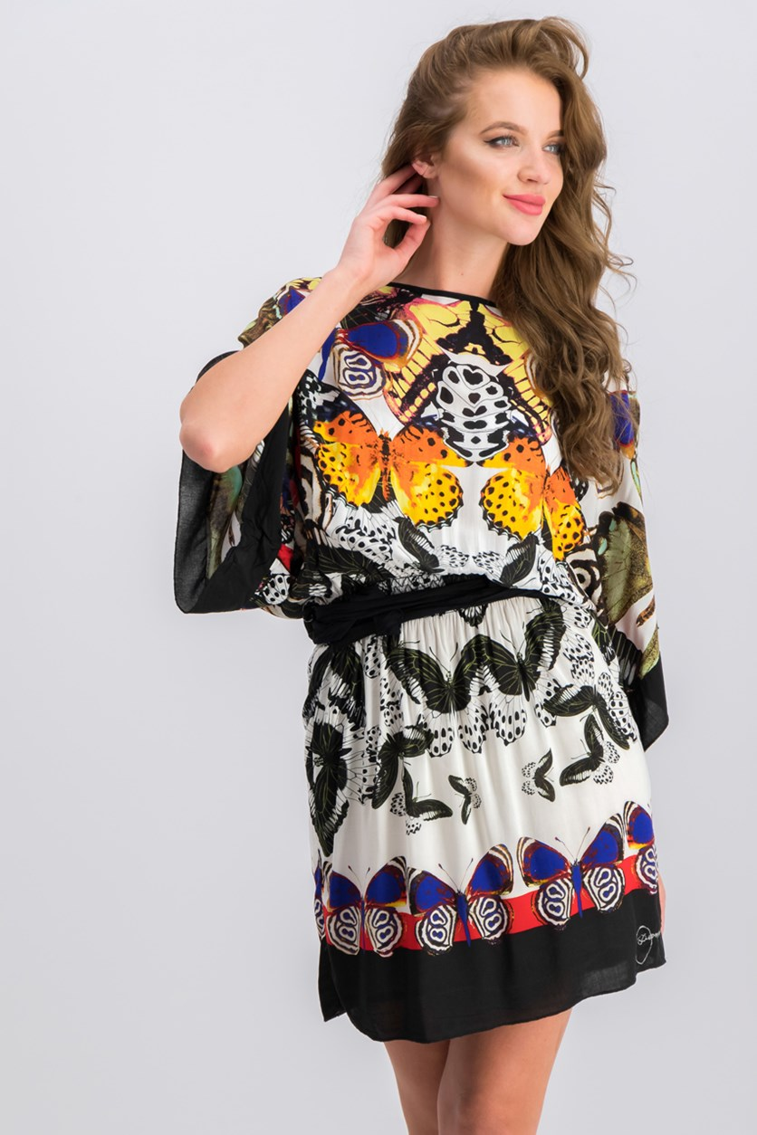 Women's Printed Dress, Black Combo