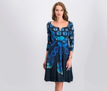 Desigual  Polyn Rep Dress, Blue Combo