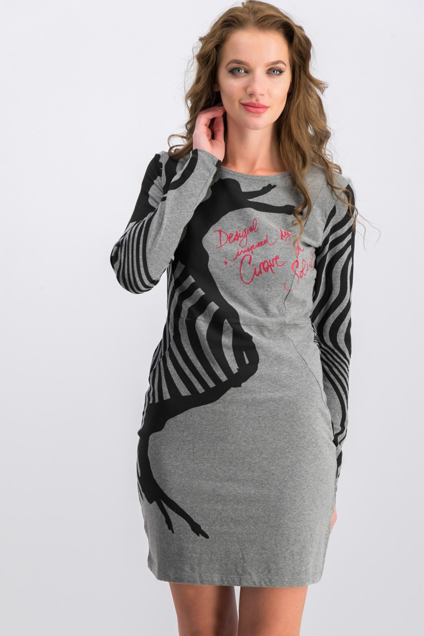 Oupr Rep Dress, Grey/Black