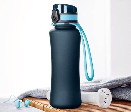 Drinking Bottle with Cold Pack, Navy