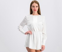 The Fifth Label Women's Paradise City Satin Romper, Ivory