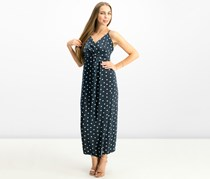 Bardot Women's V-Neck Dot Print Wrap Dress, Navy