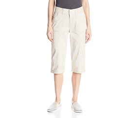 Lee Women's Relaxed-Fit Taylor Capri Pant, Beige