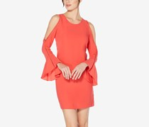Laundry By Shelli Segal Women's Cold-Shoulder Bell-Sleeve Dress, Hibis
