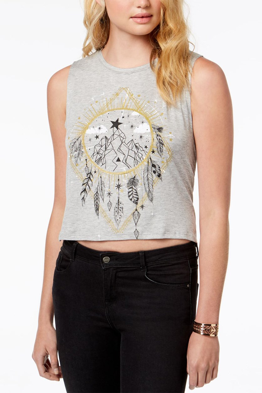 Juniors Dream Catcher Tank Top, Heather Grey