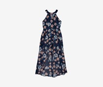 Crystal Doll Big Girls Floral-Print Maxi Dress, Navy