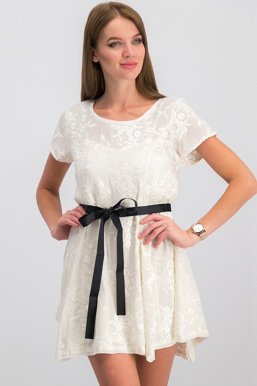Women's Fit & Flare Dress, Ivory