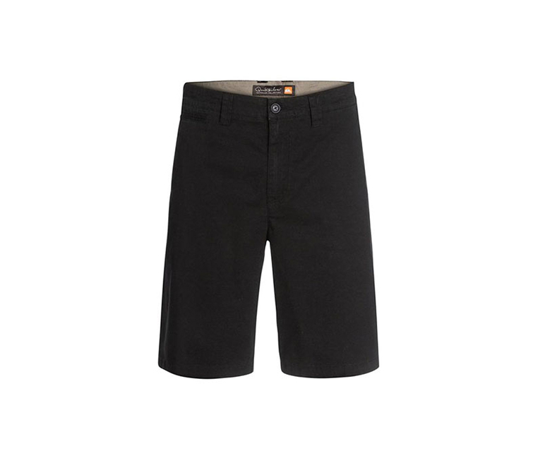 Quiksilver Men's Twill Flat Front Chino Shorts, Black