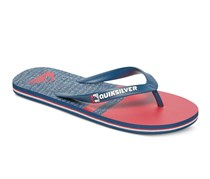 Quiksilver Men's Molokai Stomp Sandals, Blue/Red