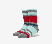 Stance Boys Glade Socks, Grey/Red/Turquoise