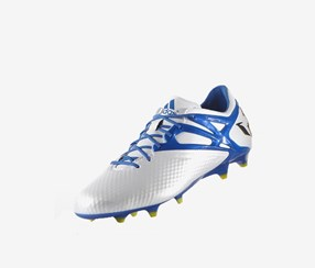Adidas Men's Football Shoes, White/Blue