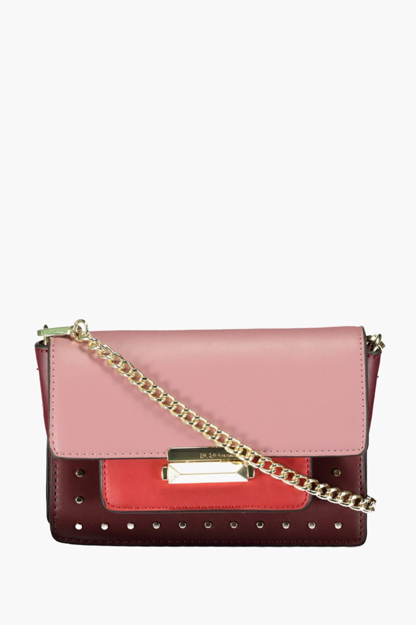 Women Tristan Convertible Crossbody Bags, Dark Red/Rose
