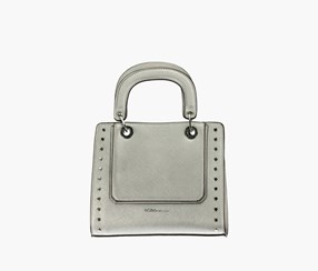 Women Demi Satchel Bags, Silver