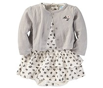 Bon Bebe Baby Girl's Set, Grey/White/Black