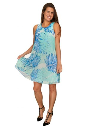 Calvin Klein Floral-Print Shift Dress, Seaglass