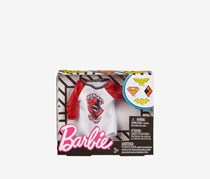 Barbie and DC Harley Quinn Raglan Shirt Fashion, White/Red