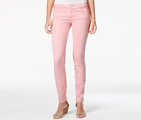 Celebrity Pink Women's Colored Skinny Jeans, Pink