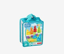 Mega Bloks Match My Colors Building Kit Storage Bag, Blue