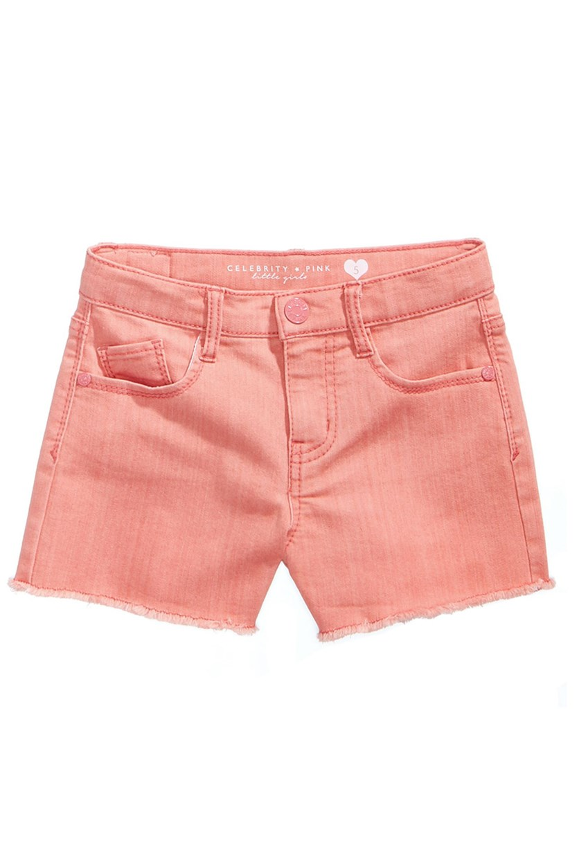 Super Soft Color Denim Shorts, Moxie Peach
