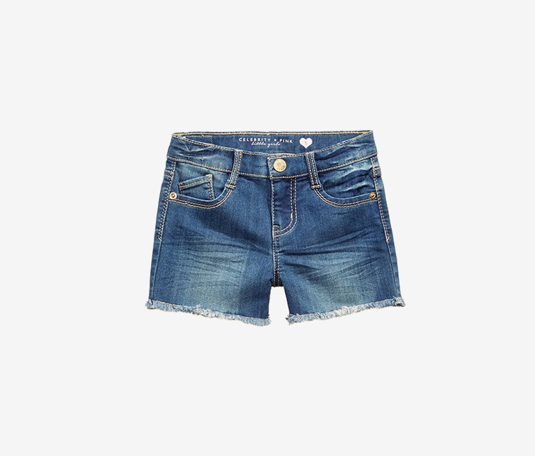 Super Soft Color Denim Shorts, Midnight Rain Wash