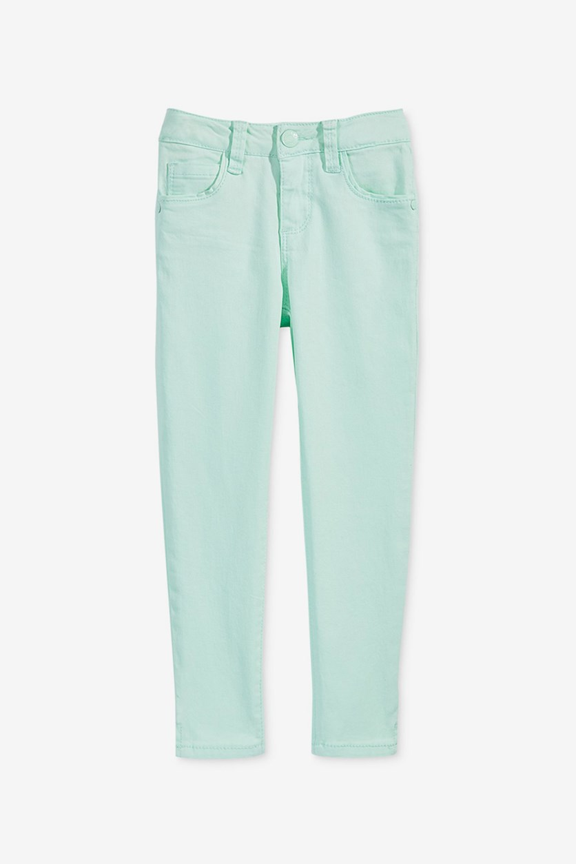 Toddler Super Soft Ankle Jeans, Pastel Green