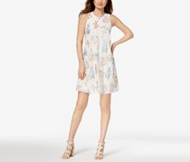 Calvin Klein Floral-Embroidered Shift Dress, White