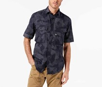 G-Star Raw Men's Dash Camo Shirt, Navy Combo