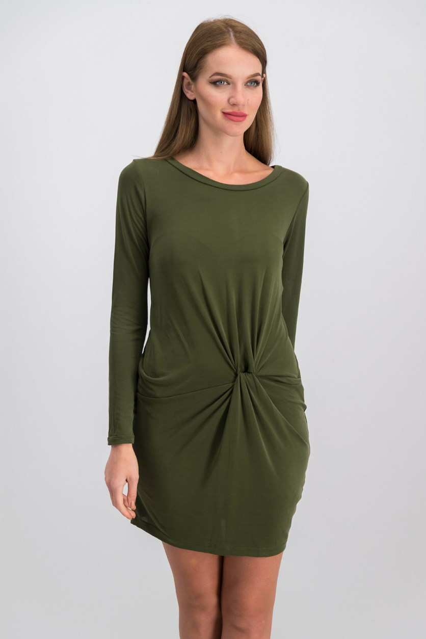 Knotted Dress, Forest Green
