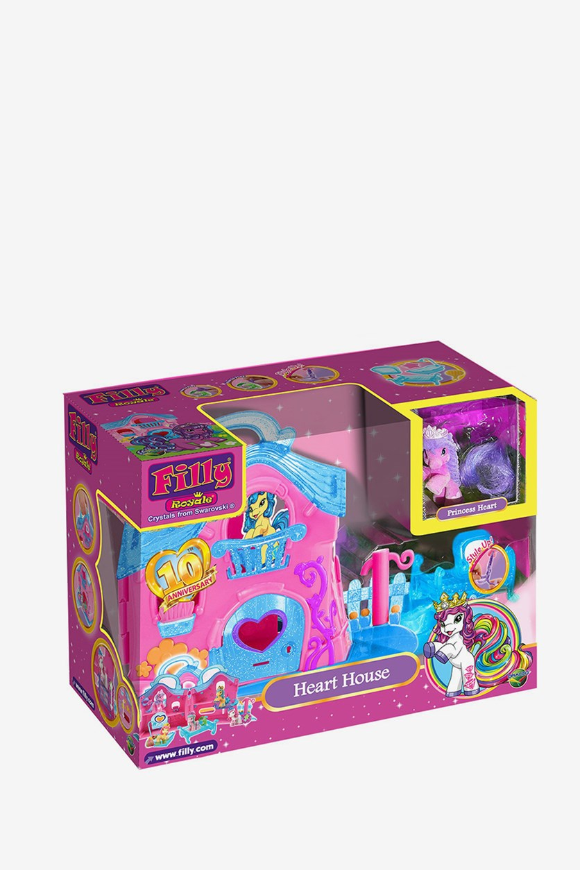 Filly Royale Heart House Set, Pink/Blue Combo