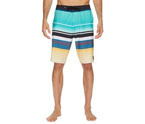 Quiksilver Men's Everyday Stripe Stretch Boardshorts, Green/Navy